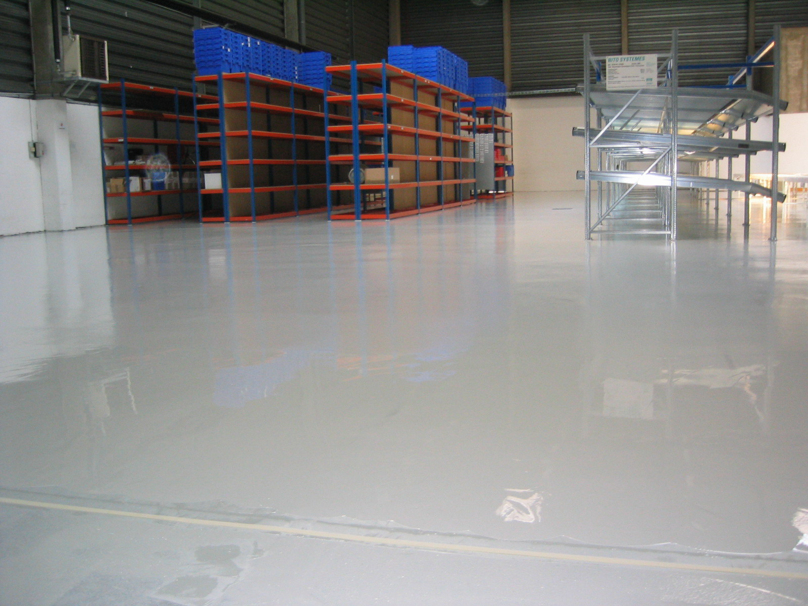 Self Leveling Roof Coating : Self leveling epoxy floor coating revepoxy al paints and