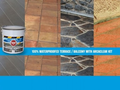 transparent waterproofing kit for tiling